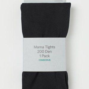 NWT 2 x H&M Black Tights 200 Denier